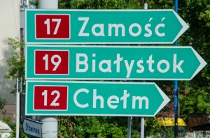 Road signs in Poland