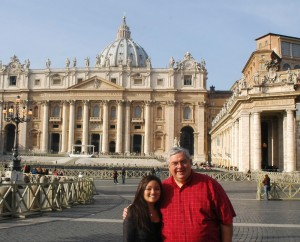 Mary Jacquel and Dennis at Vatican