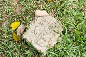 Marker near the Dong Ba Gate