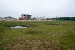 Bomb craters at the site of Quang Tri airport