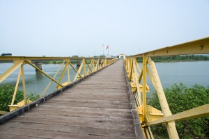 Foot bridge from south Vietnam to North Vietnam in the DMZ