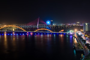 The city of Danang at night.